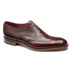 Mens Fearnley Burgundy Leather Brogue Shoes