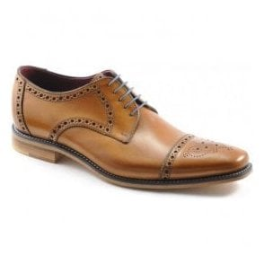 Mens Foley Tan Calf Lace Up Shoes