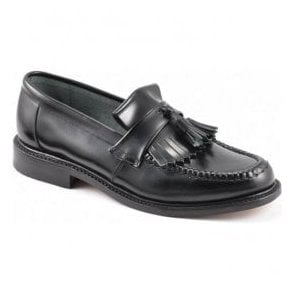 Mens Brighton Iconic Black Leather Loafers