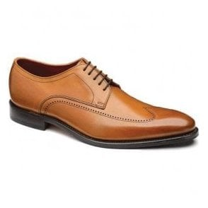 Mens Victor Calf Punched Wing Cap Derby Tan Shoes
