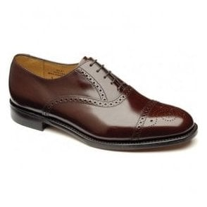 Mens Oban Brown Leather Semi Brogue Shoes
