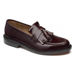 Mens Brighton Iconic Oxblood Leather Loafers