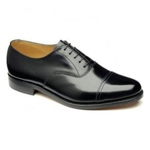 Mens Elland Black Leather Oxford Tie Shoes