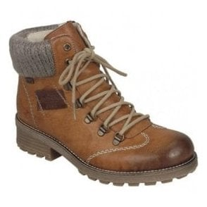 Eagle Brown Combi Leather D-Ring Waterproof Ankle Boots Z0444-24