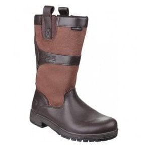 Womens Ascot Walnut Waterproof Pull on Wellington Boots