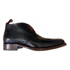 Mens Dexter Masuka Navy Leather Boots