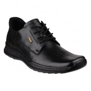 Mens Dudley Black Waterproof Lace-Up Casual Shoes