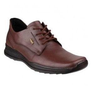 Mens Dudley Brown Waterproof Lace-Up Casual Shoes
