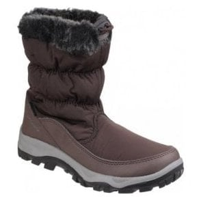 Womens Frost Brown Waterproof Pull on Snow Boots