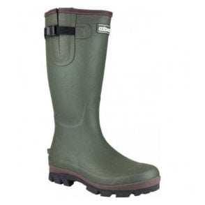 Mens Grange Green Buckle Fastening Wellington Boots