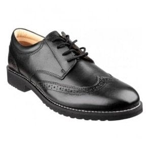 Mens Hardwicke Black Feather-light Lace up Brogue Shoes
