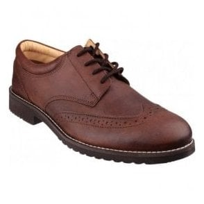 Mens Hardwicke Brown Feather-light Lace up Brogue Shoes