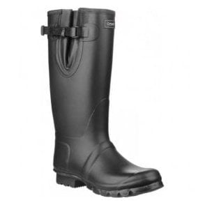 Unisex Kew Black Neoprene Rubber Wellingtons