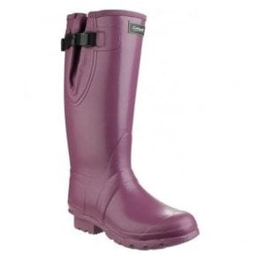 Unisex Kew Purple Neoprene Rubber Wellingtons