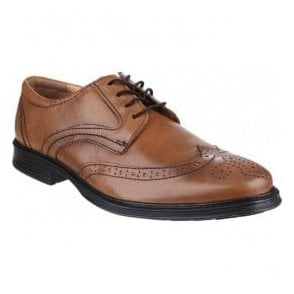 Mens Mickleton Tan Lace up Brogue Shoes
