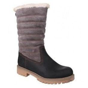 Womens Ripple Black/Grey Waterproof Boots