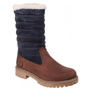 Womens Ripple Brown/Black Waterproof Boots