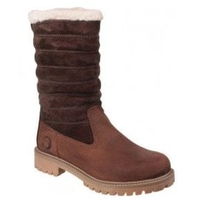 Womens Ripple Brown/Brown Waterproof Boots