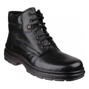 Mens Swell Black Waterproof Lace-up Ankle Boots