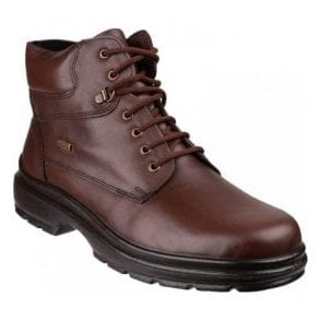 Mens Swell Brown Waterproof Lace-up Ankle Boots
