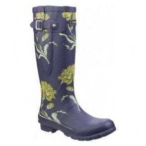 Womens Windsor Flower Print Wellington Boots