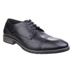 Mens Craig Luganda Black Leather Formal Shoes