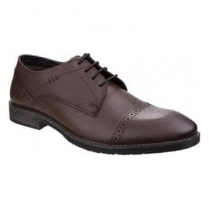 Mens Craig Luganda Brown Leather Formal Shoes