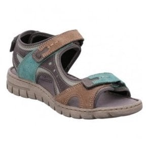 Womens Stefanie 23 Mint-Multi Velcro Sandals 93423 949 612