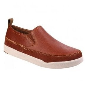 Mens Lazy Genius Brown Casual Slip-On Shoes