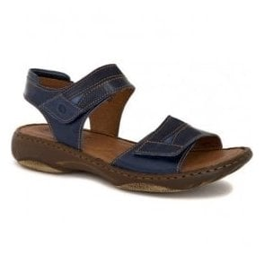 Womens Debra 19 Denim Combi Suede/Leather Velcro Sandals 76719 4413 596