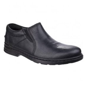 Mens Milton Hanston Black Formal Slip on Shoes