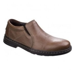 Mens Milton Hanston Brown Formal Slip on Shoes