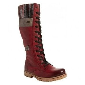 Eagle Wine 14 Eyelet Lace Up Waterproof Calf Boots Z1442-35