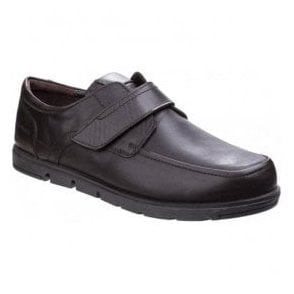 Mens Nova Brown Leather Velcro Shoes