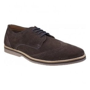 Mens Sebastian Wingtip Brown Lace up Shoes
