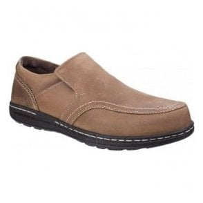 Mens Vindo Victory Brown Formal Slip on Shoes