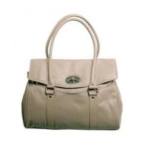 Womens Buckingham Grey Leather Handbag 7047GY