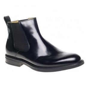 Mens Globe Black Twin Gusset Boots