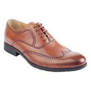 Mens Bugatti Cognac 5 Eyelet Lace-Up Shoes