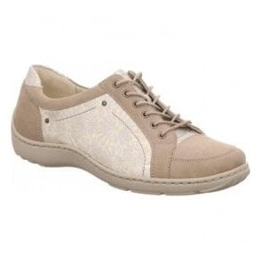 Womens Henni Denver Margo Cream/Gold Lace Up Shoes 496005 417 094
