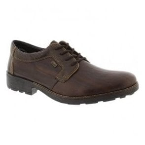 Mens Brown Leather Lace-up Shoes 16024-25