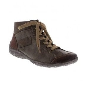 Womens Jura Brown-Combi Lace Up Ankle Boots L6540-24