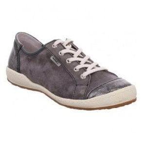 Womens Caspian 14 Grey Combi Leather Trainers 75688 949 432