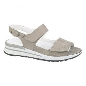 Womens Halisha Taupe Nubuck Sandals 315001 201 230