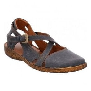 Womens Rosalie 13 Blue Strap Over Shoes 79513 95 540