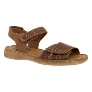 Womens Lisa 01 Bark Leather Velcro Sandals 73715 95 234