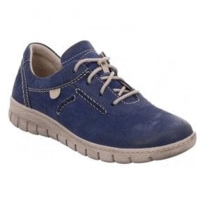 Womens Steffi 07 Blue Lace Up Trainers 93107 751 500