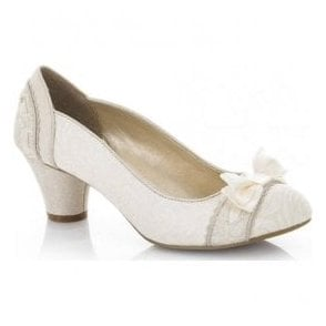 Womens Hayley Cream Court Shoes 09160