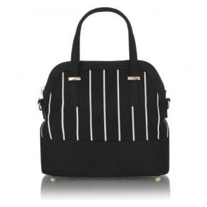 Womens Lima Black Structured Handbag 50124