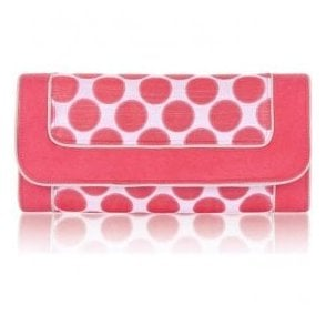 Womens Charleston Coral Clutch Handbag 50112